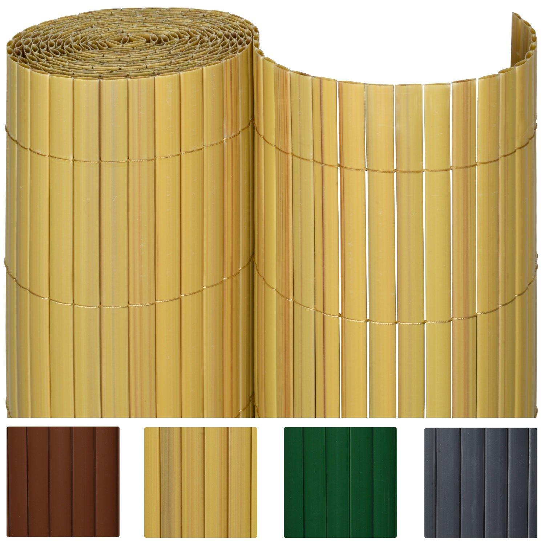 Sol Royal PVC Sichtschutz Zaun SolVision 120x300cm Bambus