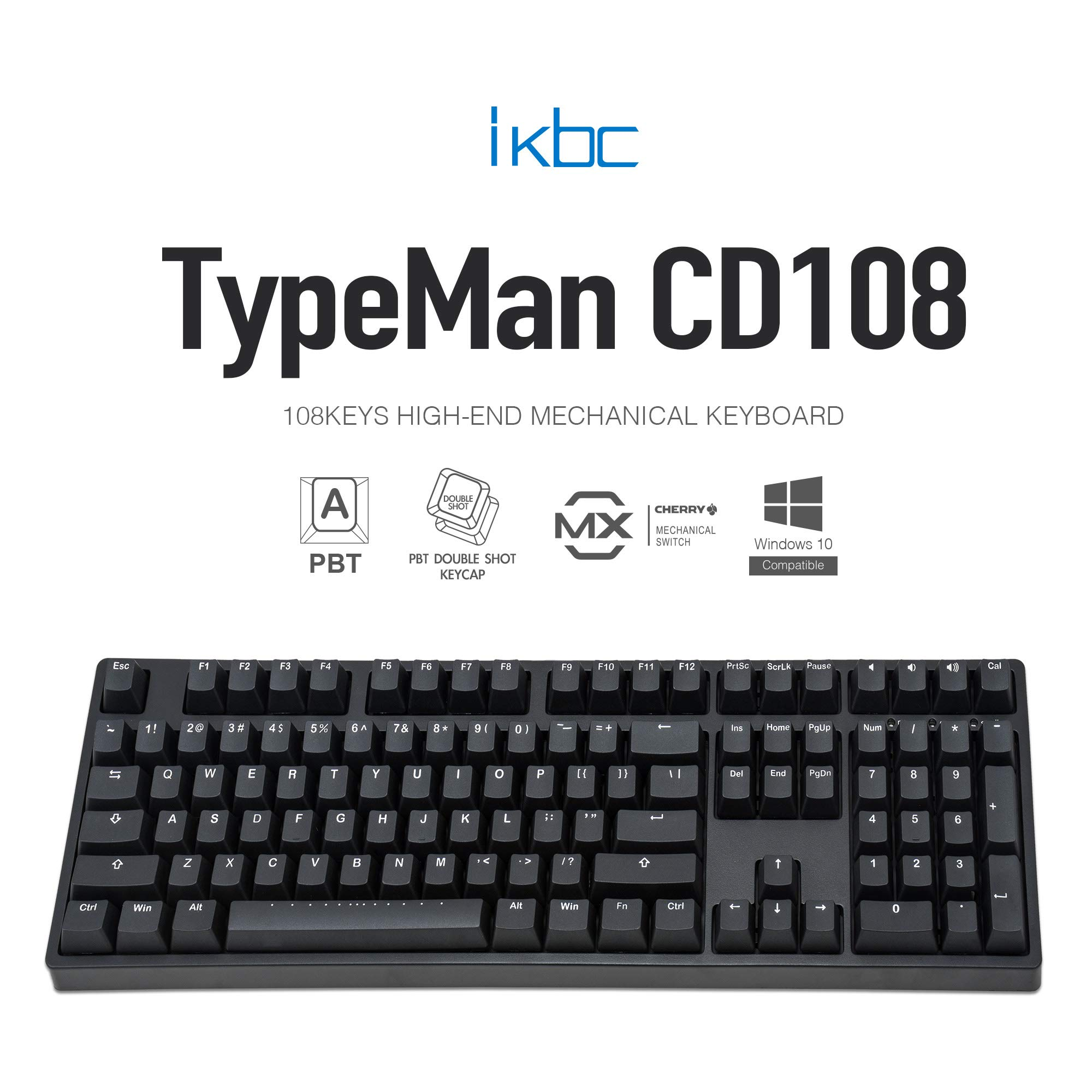 Teclado Mecanico Cherry MX Brown IKBC CD108 V2 con Cherry MX