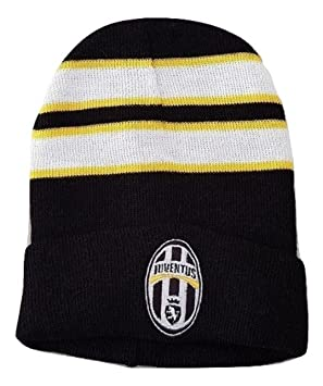 7877c623bb9f95 Juventus FC Official Juve Black Striped Winter Hat: Amazon.co.uk ...