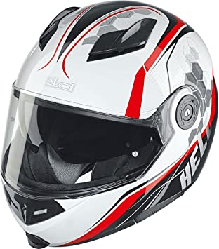 Motocicleta Held 7281 travel-champ casco – blanco rojo Reino Unido Vendedor