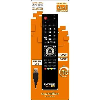 Mando a distancia universal 4 en 1 de Superior: Amazon.es: Electrónica