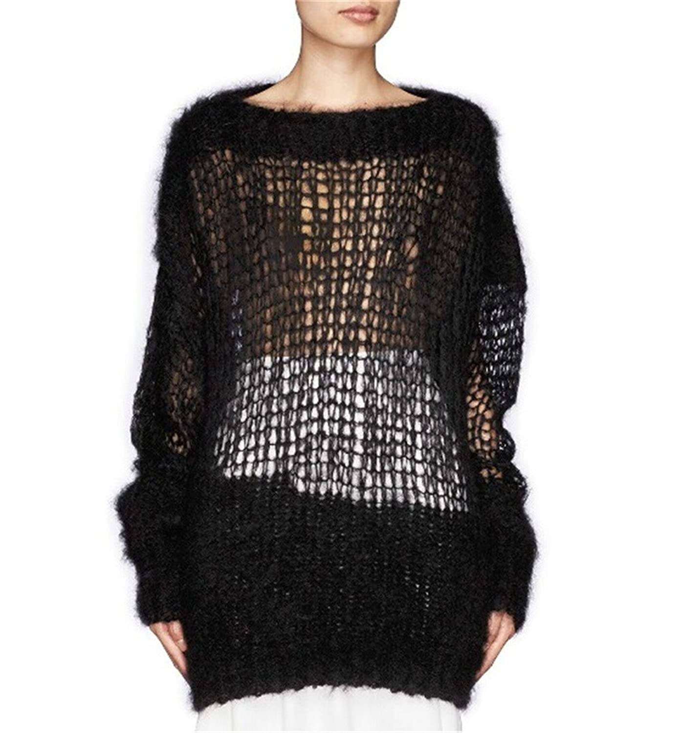 Crazy Women@@s Hollow Out Long Sleeve Knit Sweater Pullover Sweaters