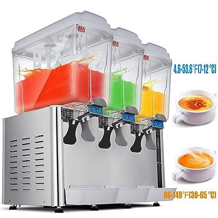Happybuy Commercial Juice Dispenser 4 75gallon Tank Cold Beverage Dispenser Stainless Steel Finish Beverage Dispenser Commercial Use 4 75 Gallon X 3