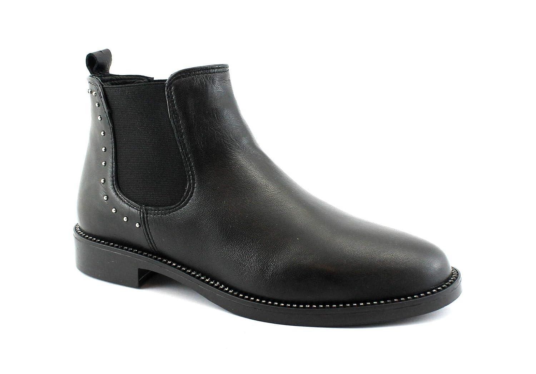 Grunland ZIGO PO1431 Schwarze Schuhe Schuhe Schuhe Frau Mitte Beatles Stiefelette aus elastischem Leder. ac0b7d