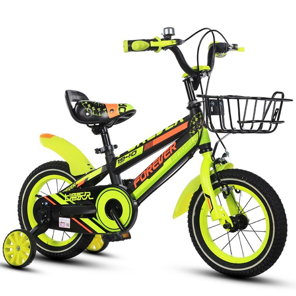 子供用自転車、4歳から8歳の男の子に適した16インチのボーイバイク (Color : Green) B07CT2HXGB