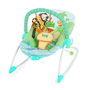 d630379ec Amazon.com : Bright Starts Rocker, Peek-A-Zoo : Baby Bibs : Baby