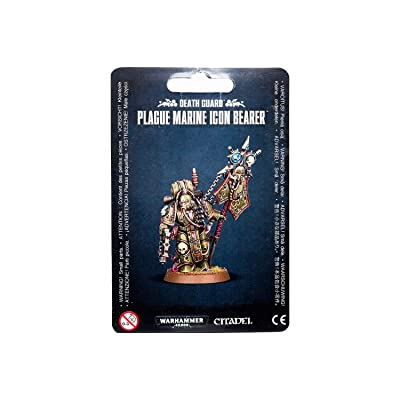 "Games Workshop 99070102006"" Death Guard Plague Marine Icon Bearer Miniature: Toys & Games"