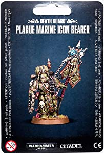 "Games Workshop 99070102006"" Death Guard Plague Marine Icon Bearer Miniature"