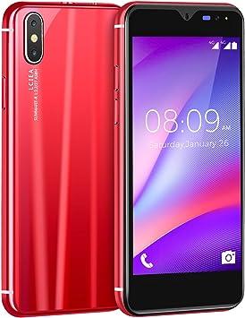 Móviles y Smartphones Libres, 5.0 Pulgadas Android GO Teléfono (5.0MP Cámara,Teléfonos binarios con Tarjeta Doble ,GPS,WiFi,Bluetooth) (i8-Rojo): Amazon.es: Electrónica