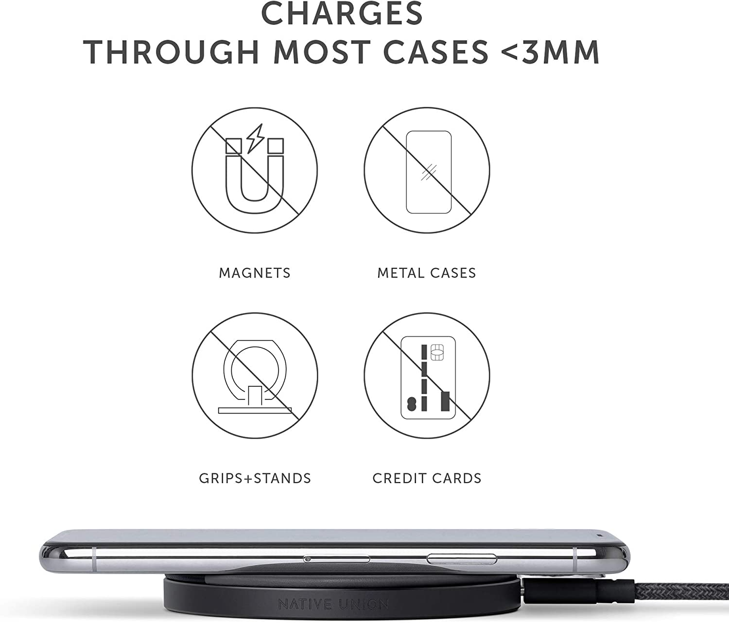 10W Fast Wireless Charging Pad -Crafted with Genuine Italian Leather Native Union Drop Marquetry Compatible with iPhone 11//11 Pro//11 Pro Max//XS//XS Max//XR//X//8//8 Plus High Speed Wireless Charger Rose Qi Certified