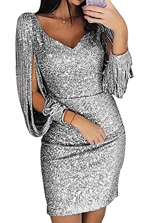 f14a7b7774f Robe Pull Femme Sexy Grande Taille Femmes Occasionnels O-Neck Solide Perles  à Manches Longues