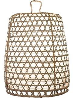 Lampenschirm Basket Bambus XL 80x55cm Weiss Bambuslampen Aus Bali Handgemachte Lampenschirme