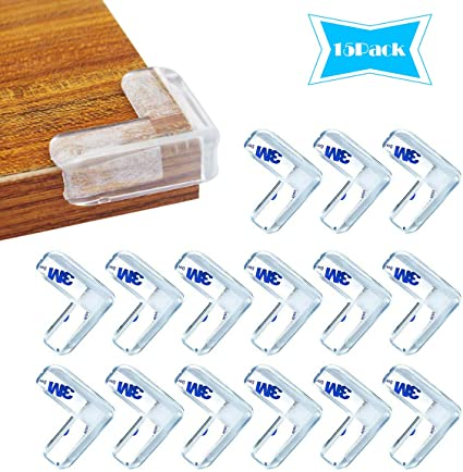 12 Pcs 2 Rouleaux Protection de Table Transparent Protection d/'Angle Pour Enfants et 12 Pcs d/'Adh/ésifs 3M pour R/éservation Wemk Protection Coin de Table