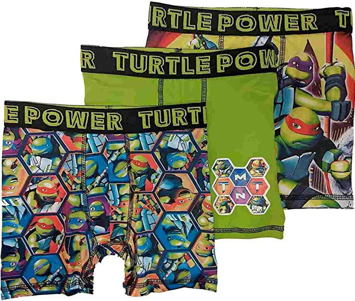 Teenage Mutant Ninja Turtle Boys Boxer Briefs Set of 5 Underwear Nickelodeon