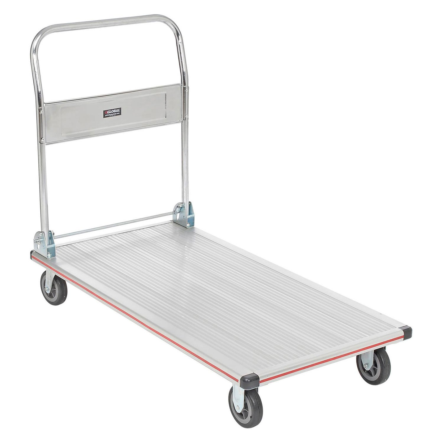 Folding Platform Truck, Aluminum, 48 x 24, 600 Lb. Capacity by Global Industrial