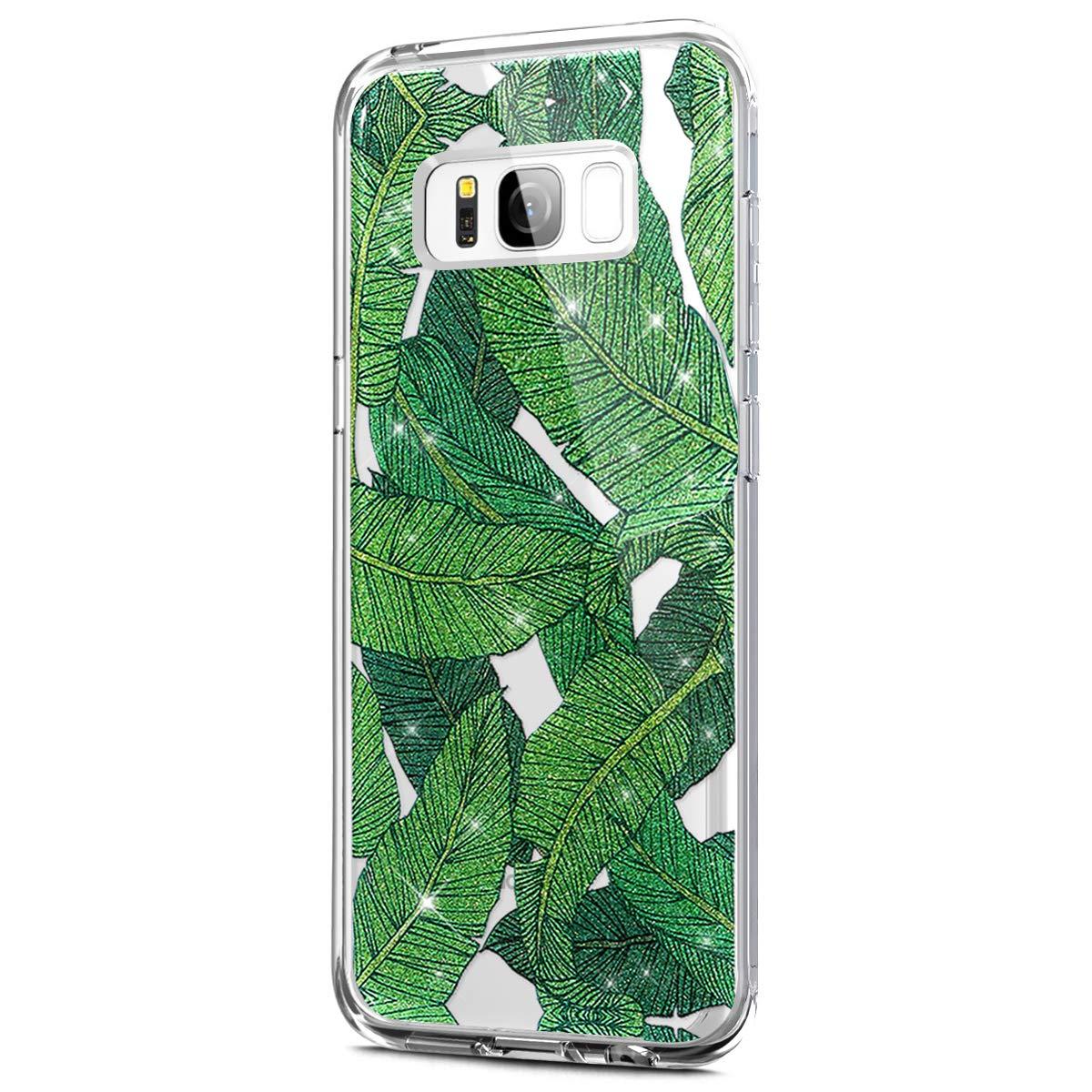 Galaxy S8 Plus Custodia, Samsung Galaxy S8 Plus Cover Silicone con Glitters / Brillantini, Surakey Morbida TPU Custodia Per Samsung Galaxy S8 Plus Bumper Case Transparent Gomma con Disegni di Mandala Rose Fiori Fenicotteri Bling Paillettes Thin Fit Skin Sh