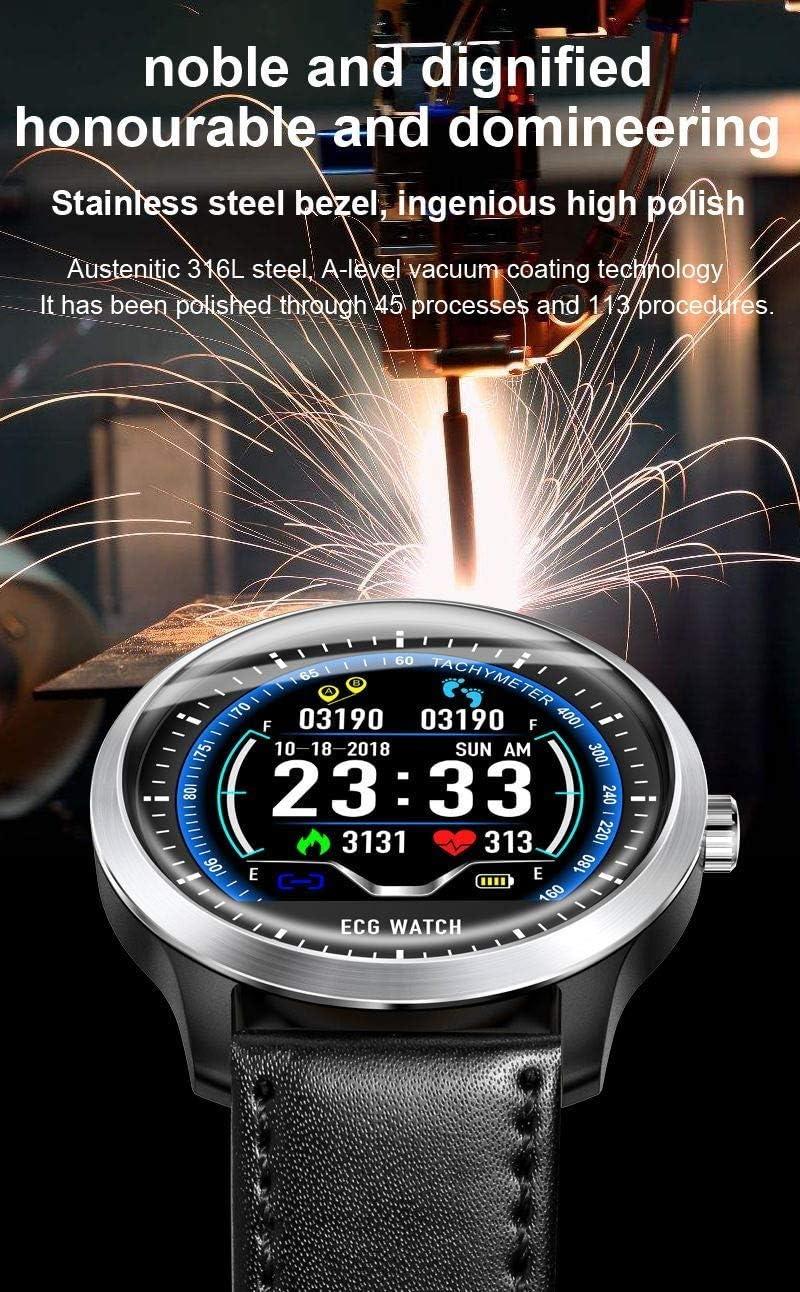 ZLLAN Nuovo Braccialetto Intelligente, Braccialetto Fitness, Tracker attività, Orologio da Polso for la frequenza cardiaca (Color : A) C