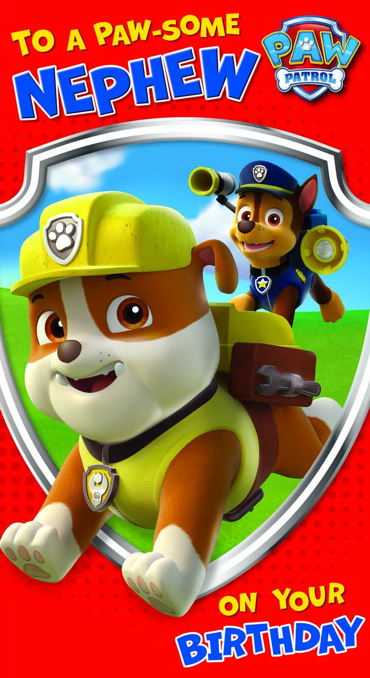 Paw Patrol Nephew Birthday Card Amazoncouk Office Products – Birthday Cards for Nephew