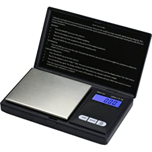 Smart Weigh SWS1KG Elite Pocket Sized Digital Scale - Black