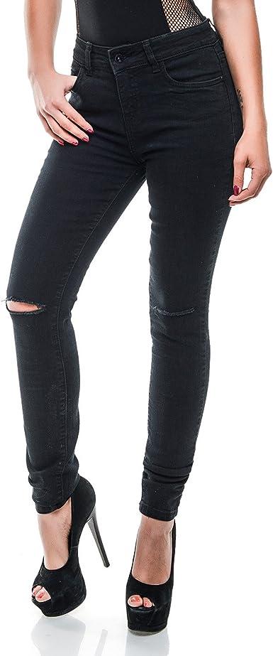 ROCK ANGEL DAMEN Jeans Hose Slim Skinny Röhrenjeans Knie