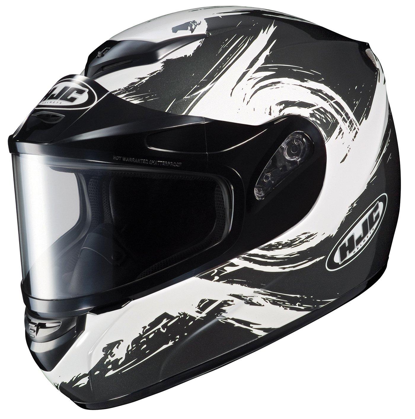 HJC CS-R2SN Contrast Full Face Snow Helmet Framed Dual Lens Shield (MC-5 Black/White, XX-Large)