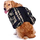 Mangostyle Dog Saddlebag Backpack Adjustable Style Dog Accessory Harness Bag for Medium and Large dogs Outdoor Travel Hiking Camping Training (Free water bowl include) (L)