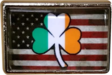 Hat Lapel Pin Tie Tac Push Irish Shamrock NEW