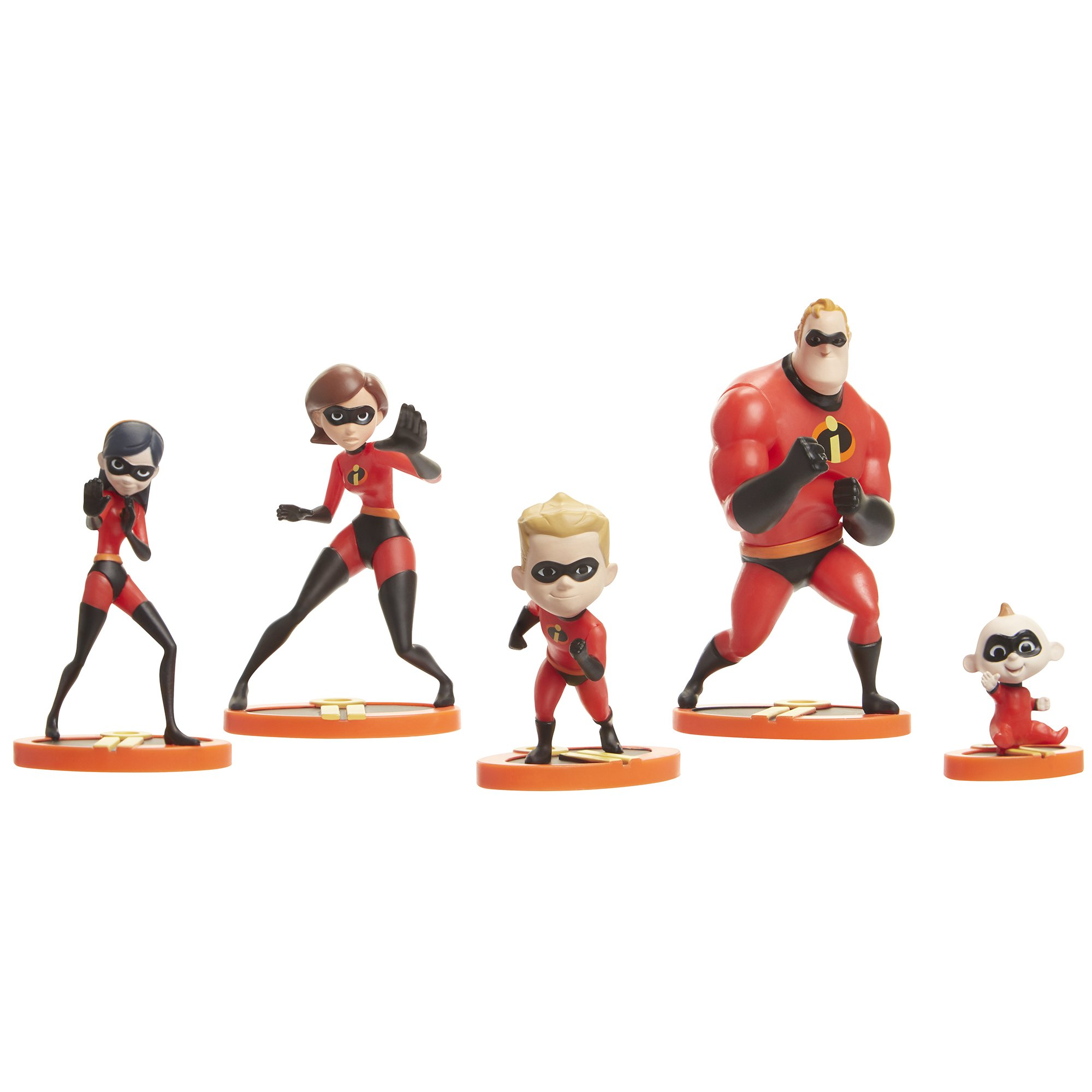The Incredibles 2, 5 Piece Family Figure Set Comes with (Mr./Mrs. Incredible, Violet, Dash, Jack Jack) by The Incredibles 2 (Image #2)