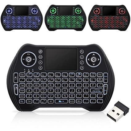 10b71484793 Mini Wireless Keyboard with Touchpad Mouse Combo, 2.4GHz Remote Control  Keyboard with Backlit and