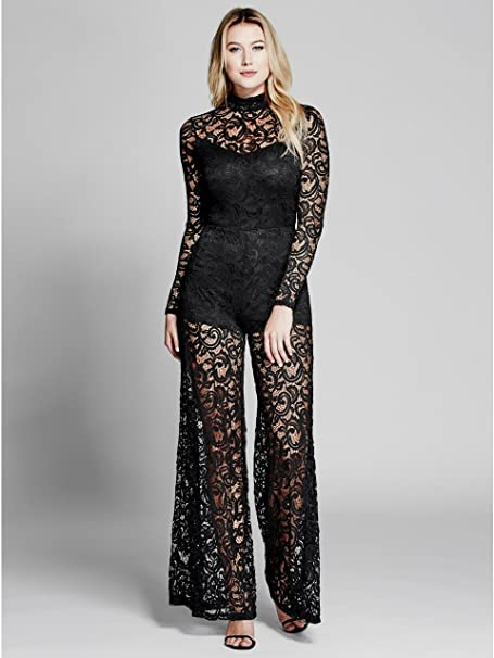 555aa7f625 GUESS Marciano Faye Lace Jumpsuit  Amazon.ca  Clothing   Accessories