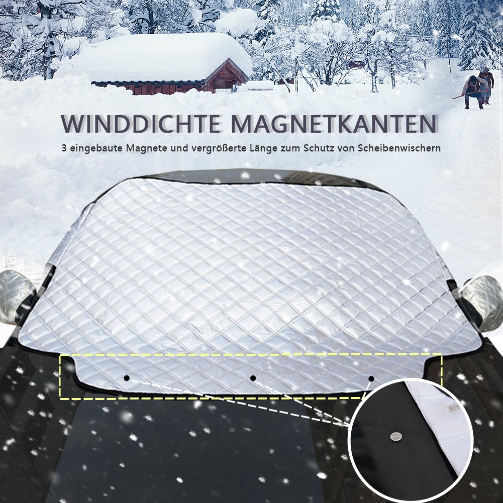 Amazon.es: scheibenabdeckung Parabrisas Protección Invierno frostabdeckung cubierta para Auto winterabdeckung?Hielo Protección Nieve magnético de fijación ...