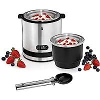 WMF Küchenminis 3-in-1 ijsmachine, ijsmaker voor bevroren yoghurt, sorbet en ijs, vrieshouder 300 ml, 30 minuten tijd…