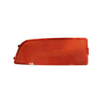 Exerock Red Lens Rear Bumper Reflector Right Driver Side Fit 2006-2016 Mercedes Sprinter 250 350: Automotive