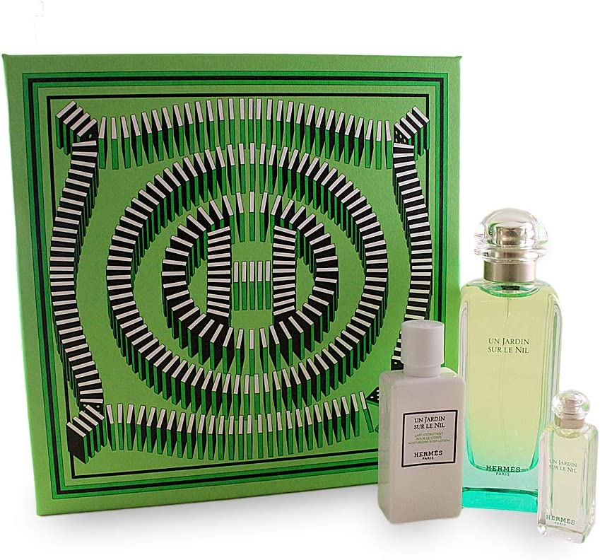 Hermès un jardin sur le Nil Femme/Woman Set (Eau de Toilette, 100 ml, 7,5 ml, loción corporal, 40 ml): Amazon.es: Belleza