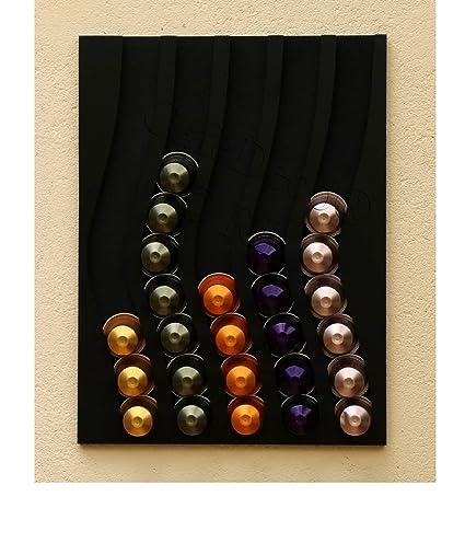 Dispensador de cápsulas nespresso, 50 cápsulas (negro)