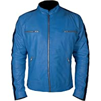 KAAZEE Mens Samuel Dirk Detective Yellow Gentlys Barnett Holistic Agency Faux Leather Jacket