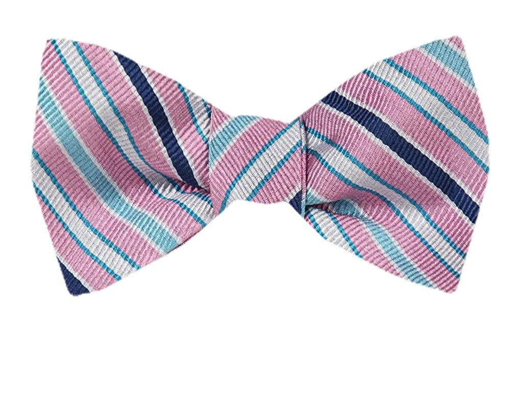 Mens Pink Silk Self Tie Bowtie Tie Yourself Bow Ties