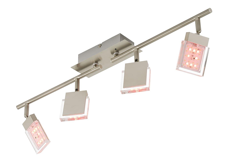 Briloner Leuchten 2530 042 LED Deckenstrahler Deckenspot RGB Farbsteuerung Farbwechsel Mit Fernbedienung Dimmbar Amazonde Beleuchtung