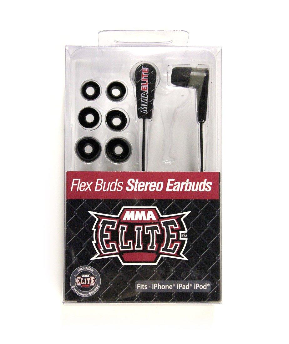 MMA Elite Flex Buds Stereo Earbuds – ブラック B00DG8ZWUQ