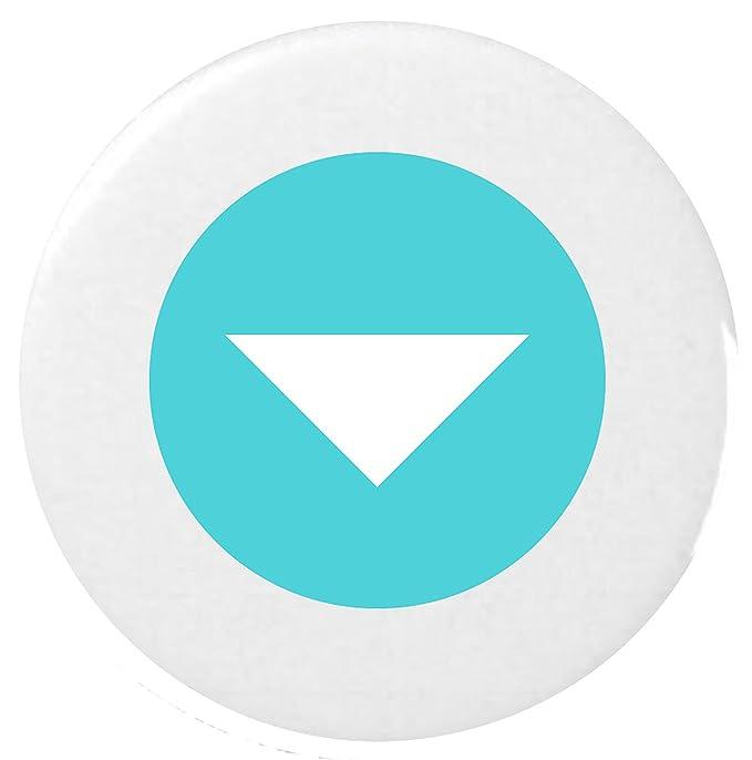 Down-Pointing pequeño triángulo rojo Emoji 25mm Button Badge