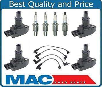 Mac de auto partes 126585 bobinas de bobina de encendido Bujías Cables 29 Mazda RX8 RX8 NGK nuevo: Amazon.es: Coche y moto