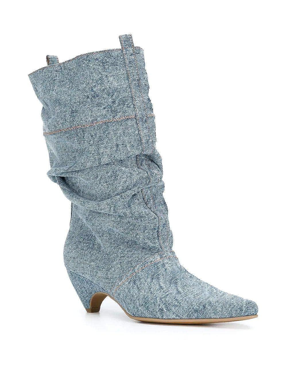 Stella McCartney Damen Damen Damen 515451W1EW04071 Blau Baumwolle Stiefeletten 4d7951