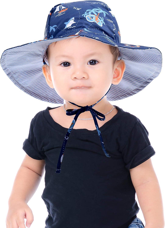 Ragazzo Neonato per Bambina Cappello da Sole Unisex a Tesa Larga Protezione Solare UPF 50 Ami/&Li tots