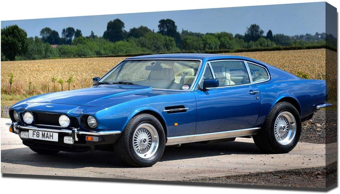 Amazon De Lilarama 1979 Aston Martin V8 Vantage V8 Art Leinwandbild Kunstdrucke Gemälde