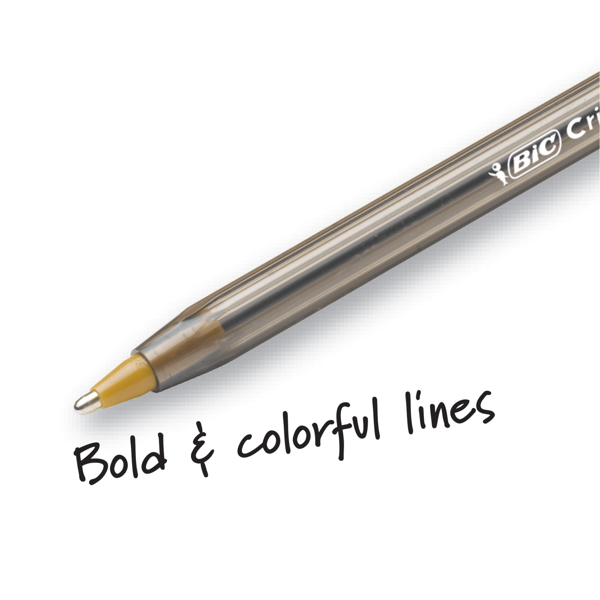 BIC MSBAPP241-A-AST Cristal Xtra Bold Fashion Ballpoint Pen, Bold Point (1.6mm), Assorted Colors, 24-Count by BIC (Image #2)