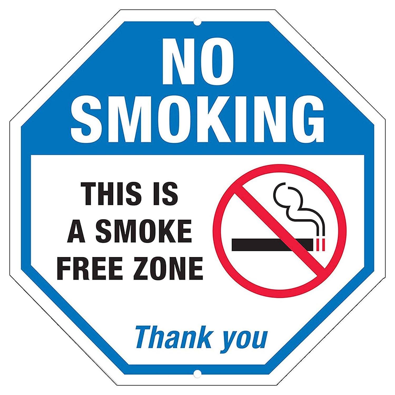 CGSignLab 5-Pack 12x12 Stripes Blue Window Cling No Smoking