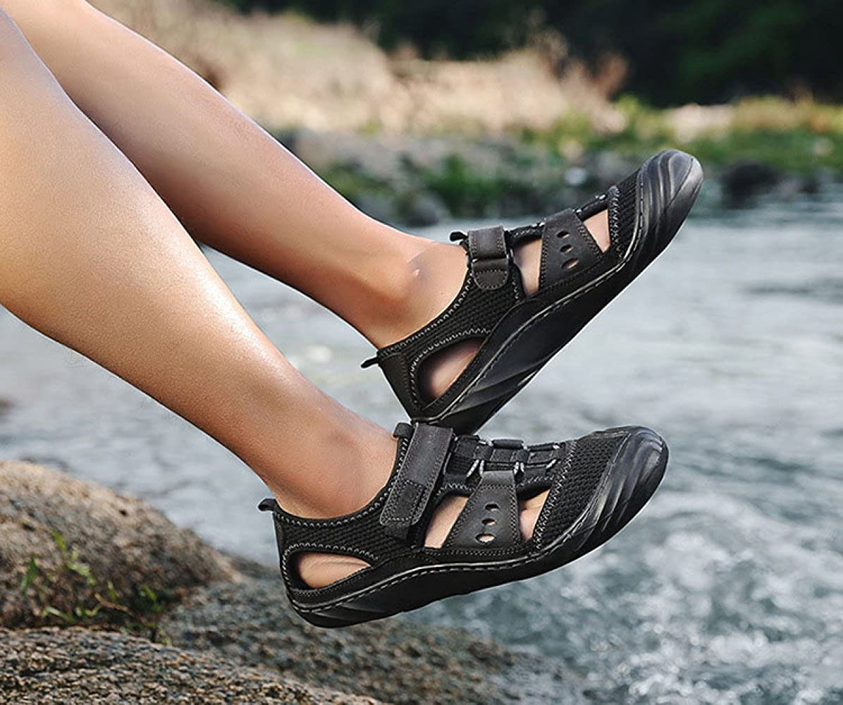 LEDLFIE Sandalen Mode Herren Schuhe Freizeitschuhe Im Freien Strand Schuhe Herren Herrenschuhe,schwarz-43 - 6834f9