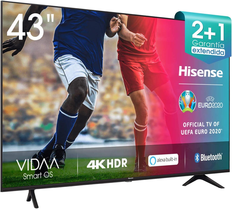 Hisense 43AE7000F UHD TV 2020 - Smart TV Resolución 4K con Alexa integrada, Precision Colour, escalado UHD con IA, Ultra Dimming, audio DTS Studio ...