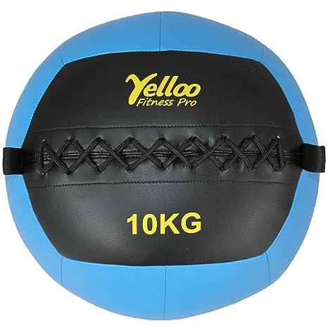 Yelloo, WB1001 - Balón medicinal o Wall Ball para crossfit y ...