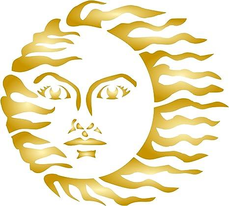 Reusable Celestial Stencils for DIY Crafts Celestial Sun and Moon Stencil